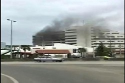 آتش سوزی بانک مرکزی نوشهر
