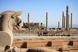 The ruins of Persepolis once a ceremonial capital of the Achaemenid Empire (c. 550–330 BC)