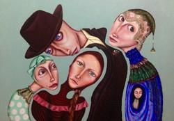 A painting by Iranian surrealist artist Sara Ashrafi