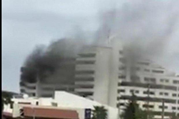 یک نفر در حادثه آتش سوزی هتل بانک مرکزی نوشهر جان باخت