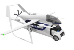 تاکسی هوایی خودران که وسیله نقلیه زمینی را جابجا می کند