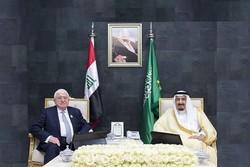 دیدار «فؤاد معصوم» و پادشاه عربستان در حاشیه نشست اتحادیه عرب