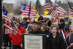 تظاهرات حامیان آزادی حمل سلاح در آمریکا
