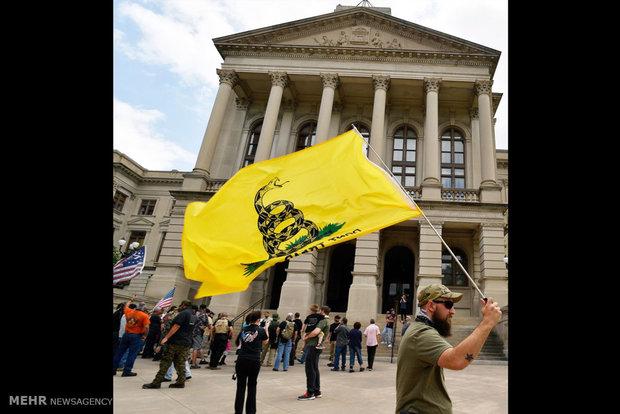 تصاویر/ تظاهرات حامیان آزادی حمل سلاح