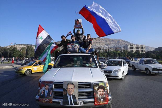 حمله آمریکا و متحدانش به سوریه