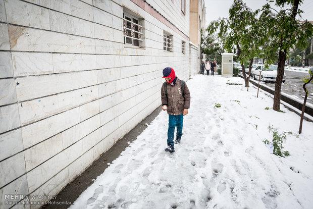 April snow in Karaj