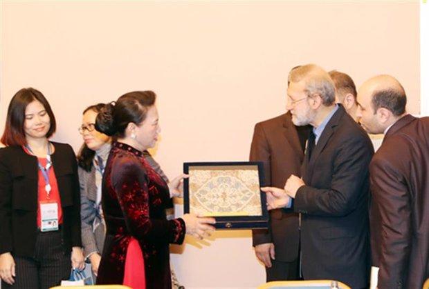 Iranian, Vietnamese parl. speakers stress expanding bilateral ties