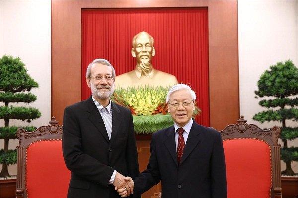 لاريجاني يلتقي الامين العام لحزب الشيوعي بفيتنام