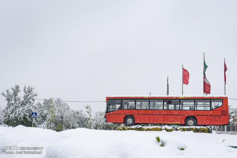 بارش برف بهاری در کرج - ۲
