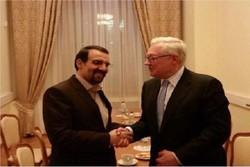 سفير ايران في موسكو يلتقي نائب وزير الخارجية الروسي