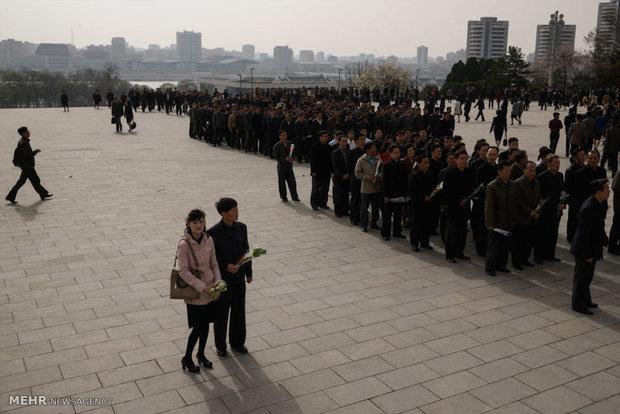 مراسم روز خورشید در کره شمالی