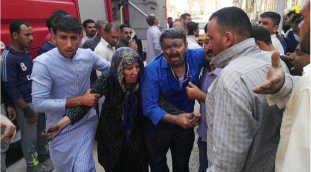 انقاذ زوار ايرانيين من حريق نشب في فندق بالنجف