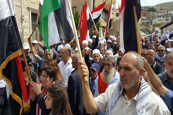 تاکید ساکنان جولان اشغالی بر مبارزه تا آزادی از لوث صهیونیستها