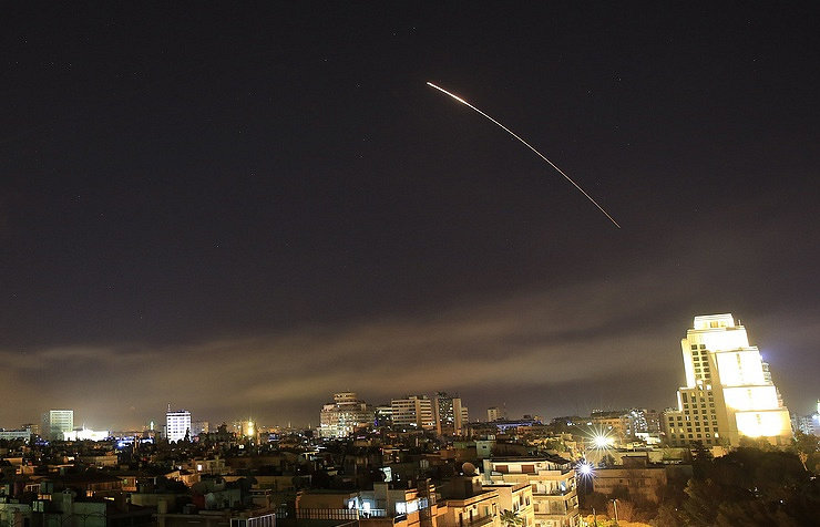 Syria Air Defense Shoots Down Missiles over Homs, Damascus