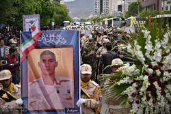تشییع شهدای هنگ مرزبانی میرجاوه در مشهد