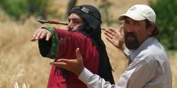 "Davud Mirbaqeri (R) directs Farborz Arabnia in a scene from ""Mokhtarnameh""."