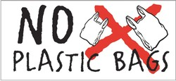 'No to plastic bags'