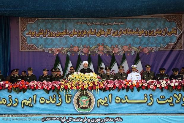 مراسم الاستعراض العسكري بمناسبة يوم الجيش الايراني