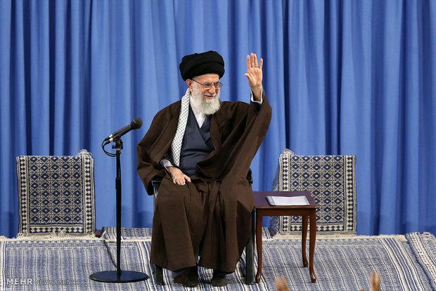 استقبال قائد الثورة كبار المسؤولين المنيين في ايران