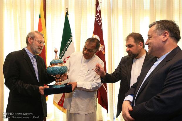 سفر رئيس مجلس الشورى الاسلامي علي لاريجاني إلى سيرلانكا