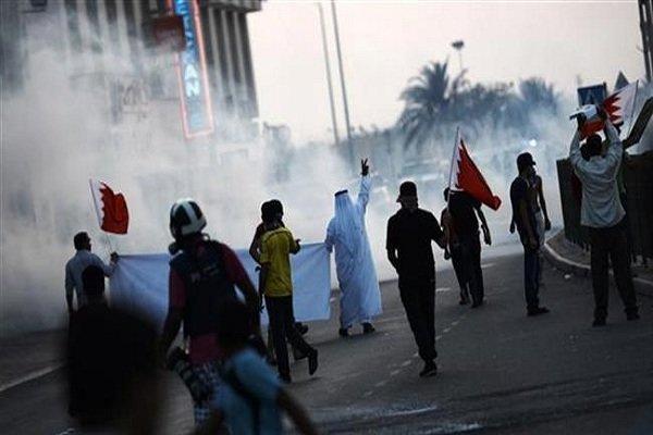 تجمع معترضان بحرینی مقابل سفارت این کشور در لندن
