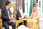 دیدار شاه سعودی و نمایندگان ناتو در ریاض