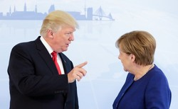 Angela Merkel and Trump