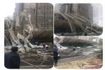 سقوط داربست ساختمان ده طبقه در سعادت آباد/حادثه مصدوم نداشت