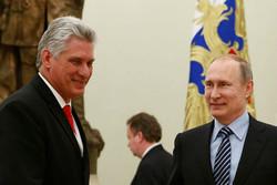 تماس تلفنی پوتین با رئیسجمهوری جدید و سابق کوبا