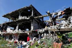 DEAŞ'ın Filipinler hamlesi ardından oluşan hasardan kareler