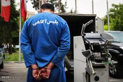 دستگیری سارقان عابر بانکها