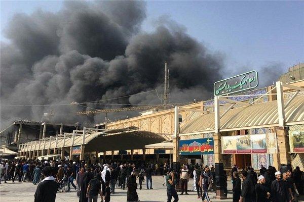 آتش سوزی در صحن حضرت زهرا (س)