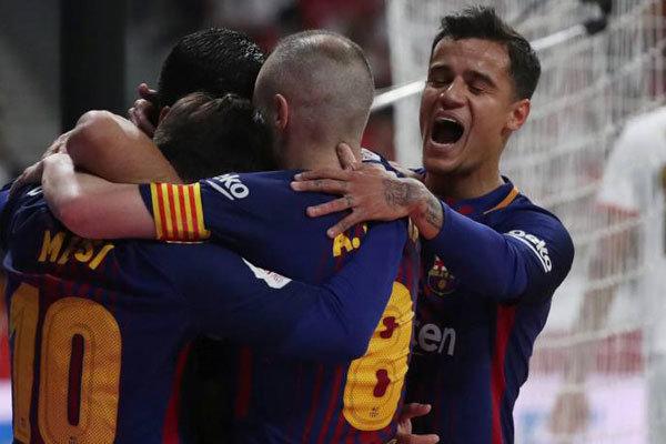 برشلونة وإشبيلية في نهائي كأس إسبانيا (5-0)