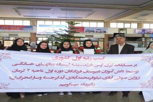 کرمانی ها قهرمان مسابقات روبوکاپ بین المللی ایران شدند