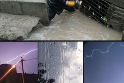 آغاز بارشها در برخی شهرهای لرستان/ ۲۵ میلیمتر باران میبارد