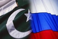 پرچم روسیه و پاکستان