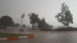 بارش تگرگ در دماوند و فیروزکوه آغاز شد