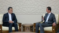Hossein Jaberi-Ansari, the Iranian foreign minister's special assistant for political affairs, met with Syrian President Bashar al-Assad in Damascus