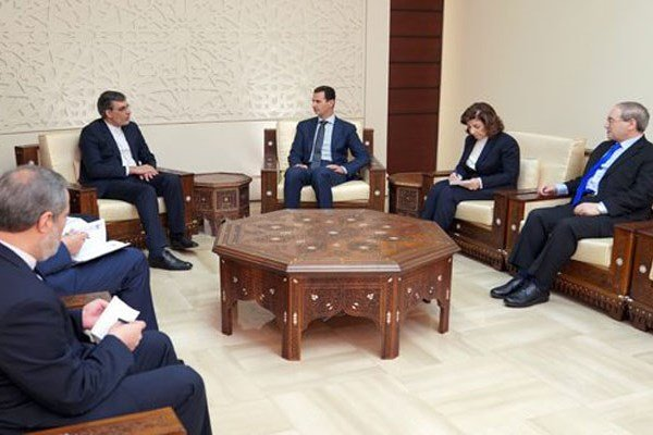 Assad, Jaberi Ansari confer on Syria's latest development