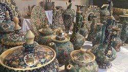 A file photo depicts Iranian potteries