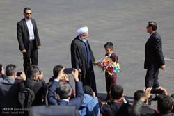 الرئيس روحاني يقوم بجولة تفقدية في محافظة أذربيجان الشرقية /صور