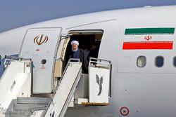 روحاني يصل إلى محافظة كلستان