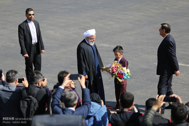 Pres. Rouhani visits Tabriz on provincial tour