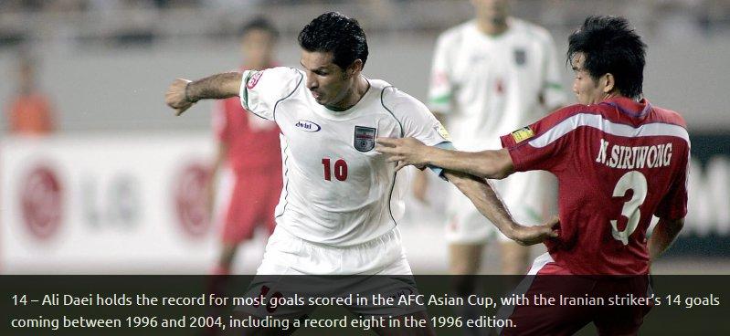 2766741 - گزارش AFC از رکوردهای ایران در جام ملتها/ دایی همچنان پیشتاز است