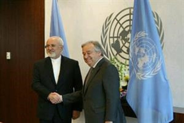 FM Zarif holds meeting with UN chief in NY