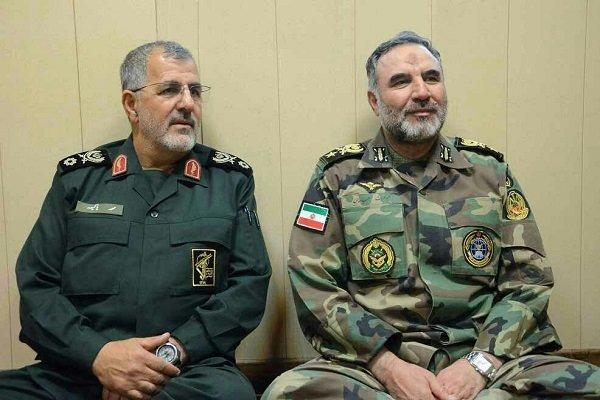 فرماندهان نیروی زمینی ارتش و سپاه دیدار و گفتگو کردند