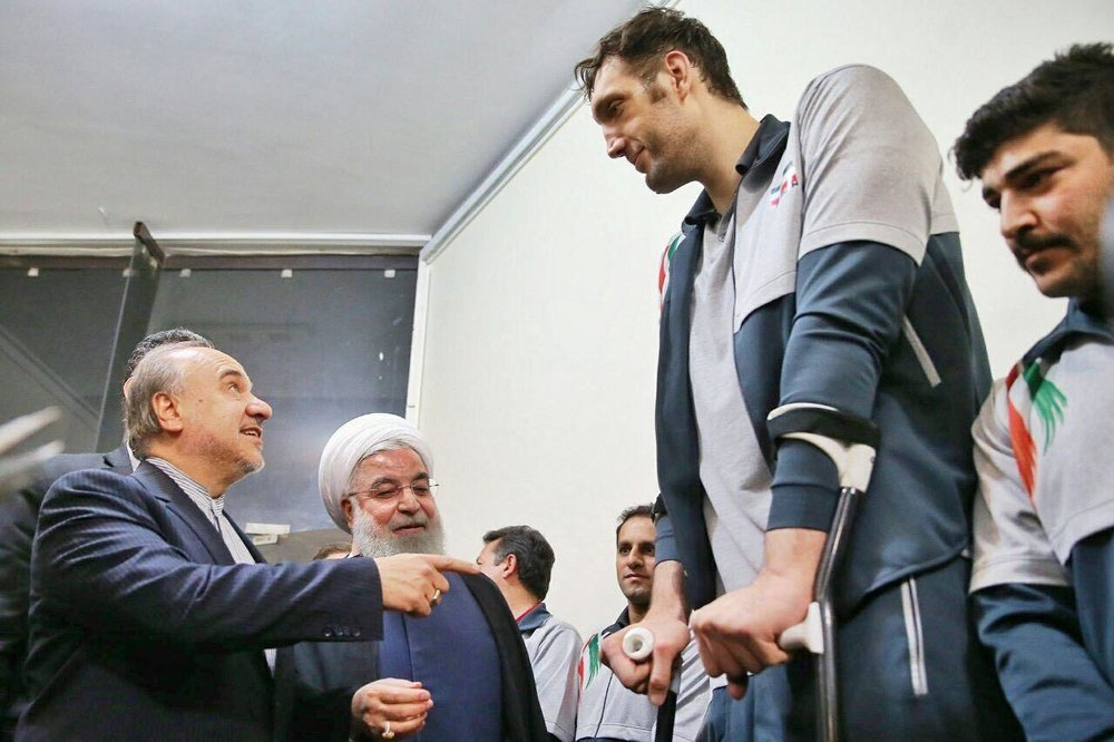 President Hassan Rouhani lauds Iranian sitting volleyball players