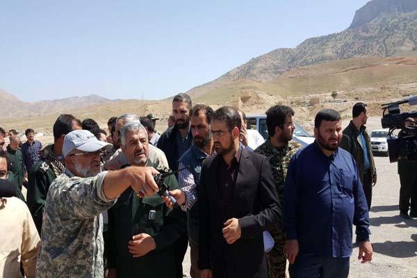 بازدید فرمانده سپاه از طرح بزرگ سامانه گرمسیری در استان کرمانشاه