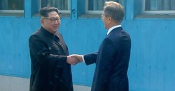 Leaders of two Koreas