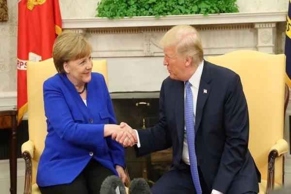 ترامپ و مرکل درباره مسائل تجاری رایزنی کردند